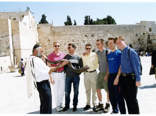 Young Business Leaders Trip to Israel in 2000, which included Mati Weiderpass, Eric Reiner of UBS and Reiner Fischer Furwentsches of Morgan Stanley.