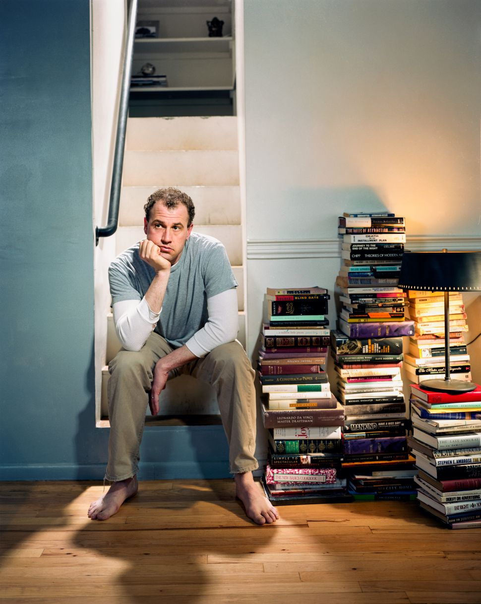 James Frey photographed by Michael Lewis in 2003 at his downtown Manhattan loft.
