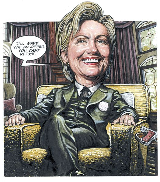 Hillary Clinton as The Godfather.