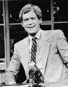 American talk-show host and comedian David Letterman sits at his desk on the television series 'Late Night with David Letterman,' New York, New York, 1986. (Photo: NBC Television/Courtesy of Getty Images)