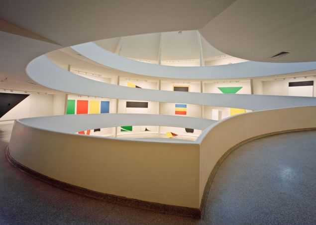 The Ellsworth Kelly retrospective at the Guggenheim Museum.