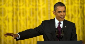 President Barack Obama, holding in all of the swear words he knows (Getty Images)