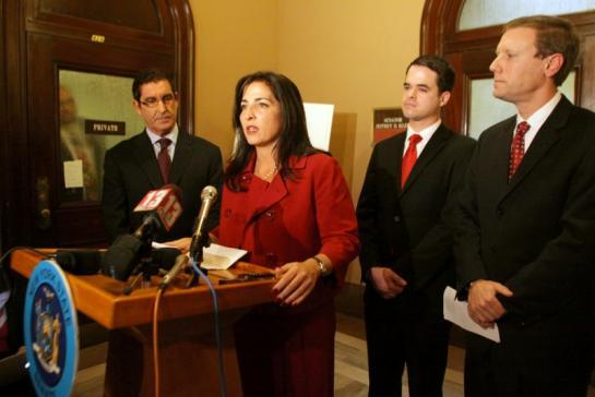 Jeffrey Klein, left, Diane Savino, David Carlucci and David Valesky of the Independent Democratic Conference (Photo: New York State Senate).