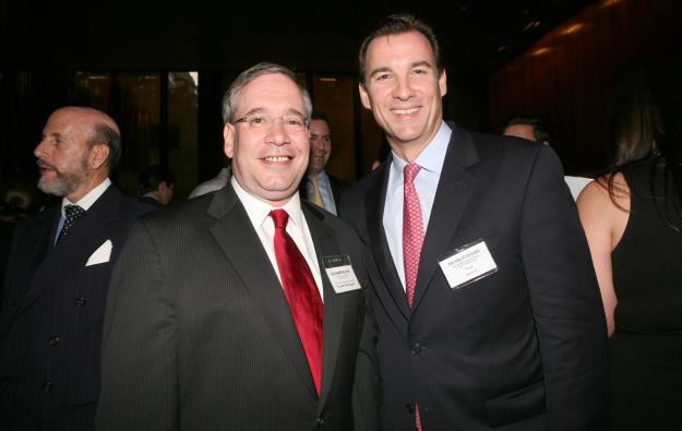 Tom Suozzi, right, with Scott Stringer, photographed in 2011.
