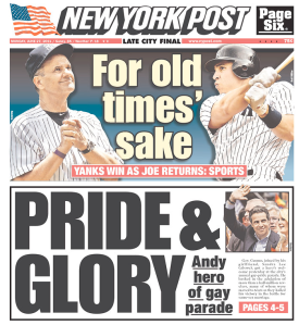 Today's 'New York Post' cover.