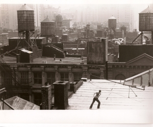 'Roof Piece,' 1971. Courtesy of the Trisha Brown Dance Company, photo by Babette Mangolte.