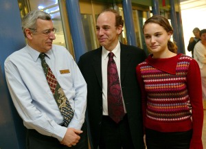 Some genes! Avner Hershlag (center) and Natalie Portman (right). Not pictured: Aleph Millipied. (Getty Images)