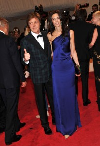Musician Paul McCartney and Nancy Shevell attends the 'Alexander McQueen: Savage Beauty' Costume Institute Gala at The Metropolitan Museum of Art on May 2, 2011 in New York City. (Photo: Stephen Lovekin/Getty Images)