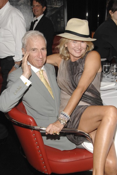 Gay Talese and a lady who evidently inspires him at least a little, Lady Liliana Cavendish.