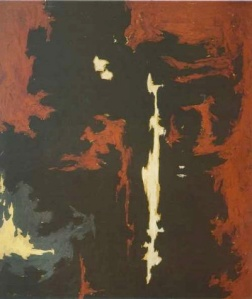 """1949-A-No.1"" (1949) by Clyfford Still. (Courtesy Sotheby's)"
