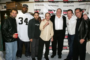 Eddie Brill (third from right) and some of the men of comedy (Getty Images)