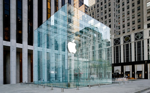 Apple's 5th Avenue store, designed by Bohlin Cywinski Jackson, the retailer's architect firm of choice.