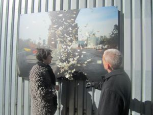 Queens City Councilman Jimmy Van Bramer, right, wants to make sure the public has input on outside art exhibitions like this one. (Facebook)