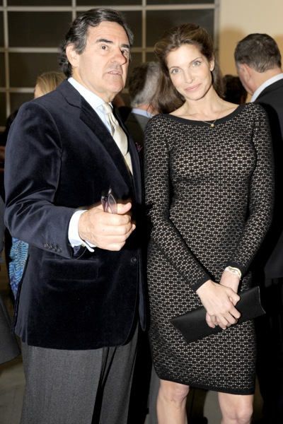 Art collector Peter Brant with Stephanie Seymour.