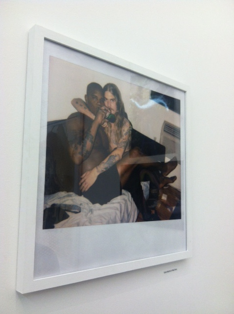 """Dash Snow's portrait of Kunle Martins at the Hole Gallery's """"Portrait of a Generation"""""""