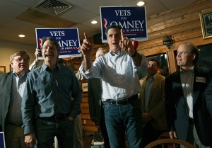 Mitt Romney, shown here campaigning in Alabama with Jeff Foxworthy, should consider a third run for the White House. (Getty Images)