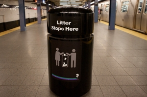 Does litter stop if it doesn't stop here? (Stephen Nessen/WNYC)