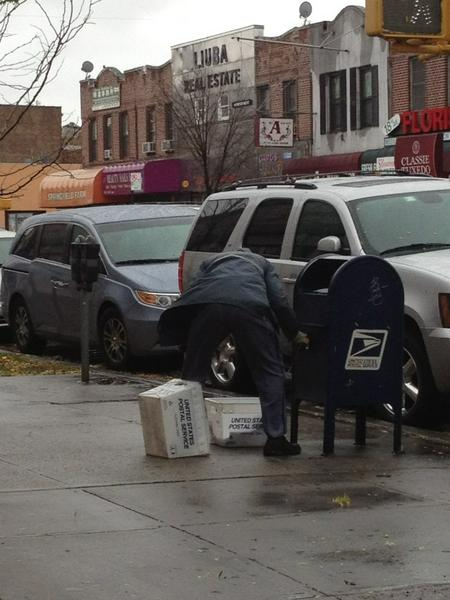 """I salute the hard-working men & women of the USPS. #NeitherSnowNorRain..."""