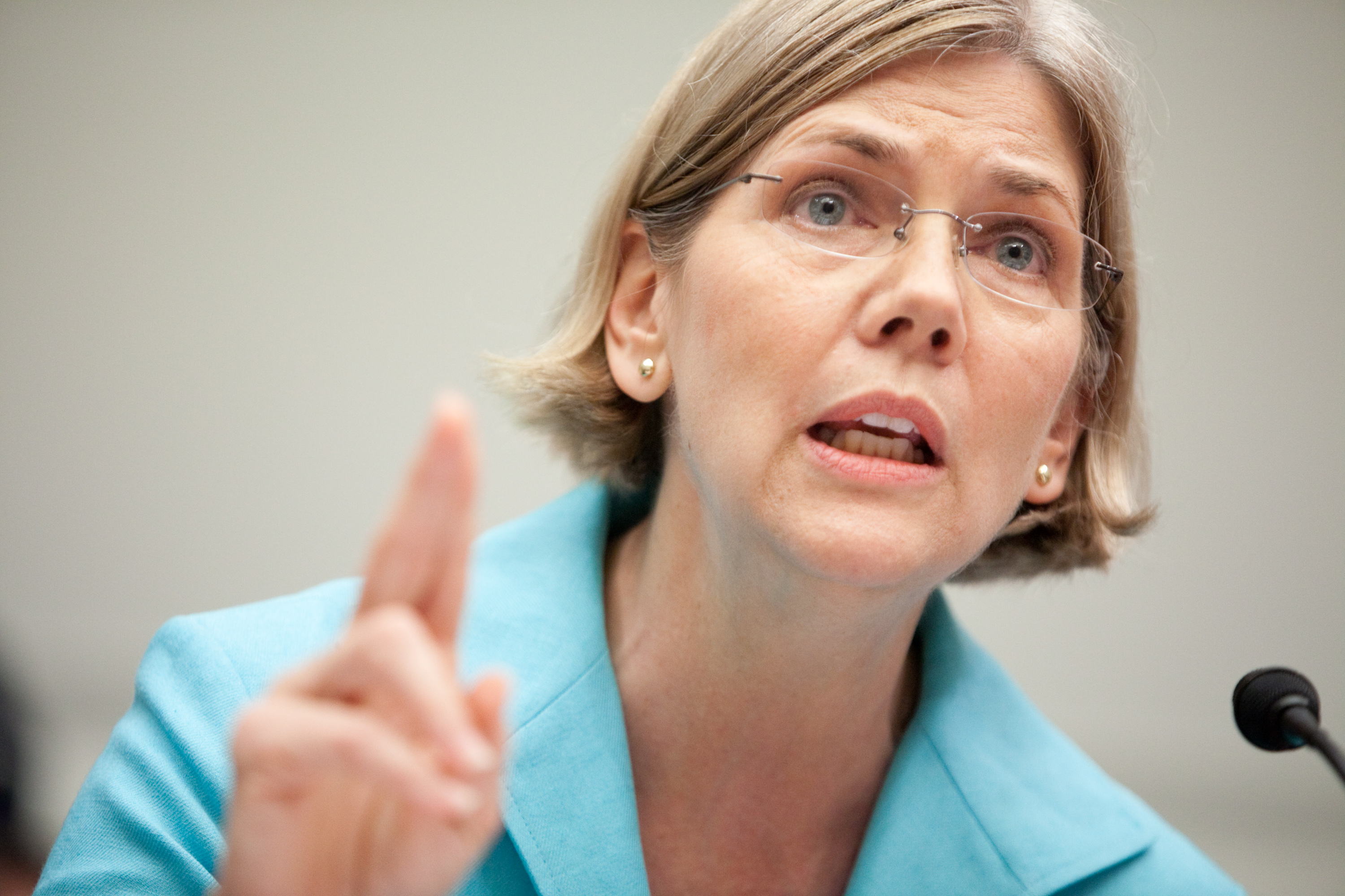 Elizabeth Warren. (Photo by Brendan Hoffman/Getty Images)