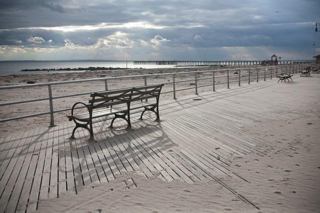 Neighboring Coney Island just after Hurricane Sandy (Emily Anne Epstein)