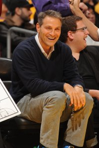 Ari Emanuel courtside at a Lakers game last year. (Photo: Getty)