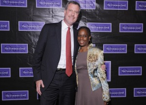Bill de Blasio and Chirlane McCray. (Photo: Getty)