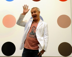 Hirst at Gagosian New York. (Courtesy Getty Images)