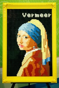 A lego version of Vermeer's 'Girl With a Pearl Earring.' (Getty Images)
