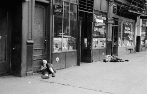The Bowery in 1961. (William Lovelace/Express/Getty Images)