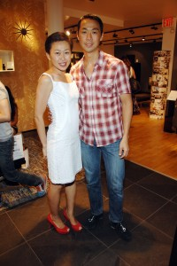 Niki Cheng and Shaokao Cheng at their Chelsea BoConcept store (PMc)