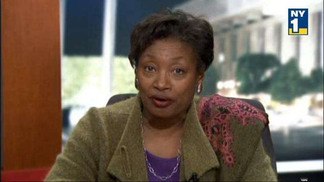 State Senator Andrea Stewart-Cousins. the minority leader (Screengrab: NY1)