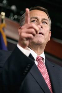John Boehner Holds Press Briefing At Capitol