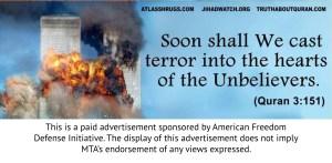 The American Freedom Defense Initiative's new ad. (MTA)