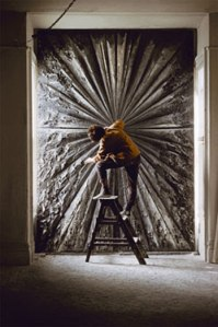 """Jay Defeo's """"The Rose."""" (Courtesy the Whitney Museum)"""