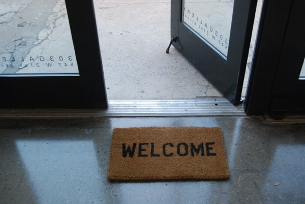 Ceal Floyer, 'Welcome,' 2011. (Courtesy the artist and 303)