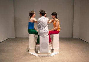 R.E.H. Gordon, 'The Observants,' 2011, with AJ Durand, Edie Fake, Rami George, R.E.H. Gordon. (Oli Rodriguez/SculptureCenter)