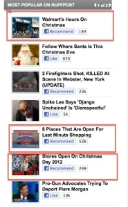 The most popular articles on Huffington Post