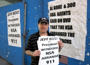 Jeff Boss with some of his posters. (Photo: Animal New York/Bucky Turco)