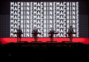 "Kraftwerk performing ""The Man-Machine"" at MoMA. (Courtesy MoMA)"