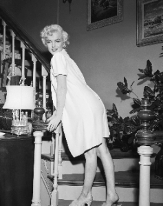 """Ms. Monroe, again partially clad, in """"The Seven Year Itch."""""""