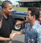 Barack Obama and Brian Schatz (Photo: NeilAbercrombie.com)