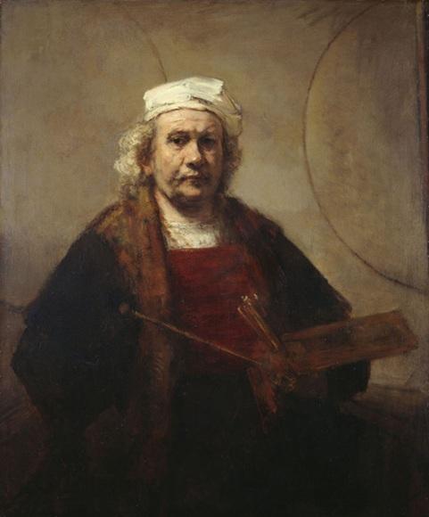 A self-portrait by Rembrandt.