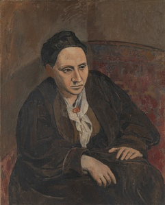 Picasso's 1905–6 portrait, 'Gertrude Stein,' which is in the Met's collection. (Courtesy the Met)