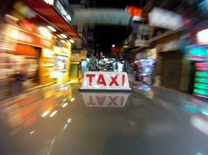 A Hong Kong taxi. (Ed Jones/AFP/Getty)