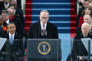 Chuck Schumer speaking at the Inauguration. (Photo: Getty)