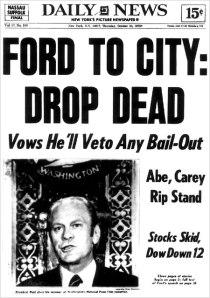 The Oct. 30, 1975 front page of the New York Daily News.