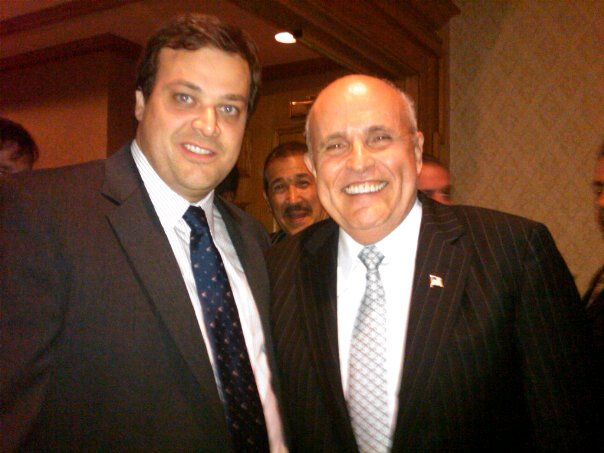 John Quaglione, left, with former Mayor Rudolph Giuliani.