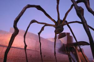 Bourgeois's 'Maman' sculpture by the Guggenheim Bilbao. (Rafa Rivas/AFP/Getty Images)