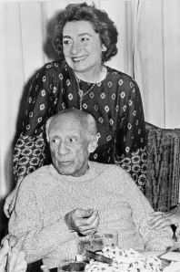 Pablo Picasso and his wife Jacqueline in their hou