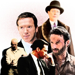 From clockwise left: Damian Lewis in Homeland, Steve Buscemi in Boardwalk Empire, Andrew Lincoln in The Walking Dead, Jon Hamm in Mad Men, and Bryan Cranston on Breaking Bad. (Ed Johnson)